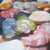 Роза на шпильке из фоамирана, белая