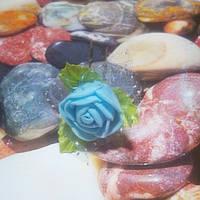 Роза на шпильке из фоамирана, голубач
