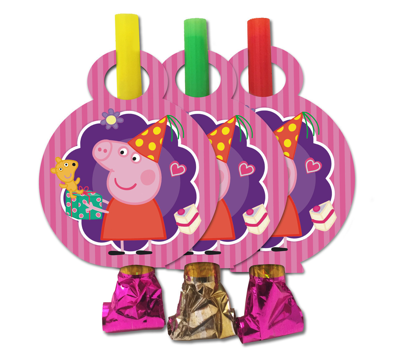 "Язычки- гудки ""Пеппа свинка   "" ( упаковка 5  штук)"