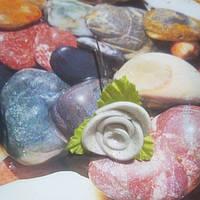 Роза на шпильке из глитерного фоамирана, белая