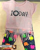 Летний детский костюм   для девочки 1 - 5  лет