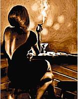 Картина по номерам Девушка в баре (40 х 50 см, без коробки)