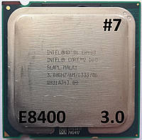 Процессор ЛОТ#7 Intel® Core™2 Duo E8400 SLAPL 3.00GHz 6M Cache 1333 MHz FSB Socket 775 Б/У, фото 1