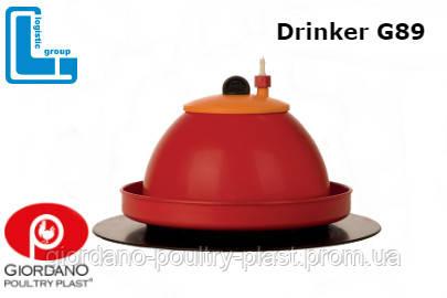 Автоматическая колокольная поилка для цыплят, кур DRINKER G89
