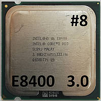 Процессор ЛОТ#8 Intel® Core™2 Duo E8400 SLB9J 3.00GHz 6M Cache 1333 MHz FSB Socket 775 Б/У, фото 1