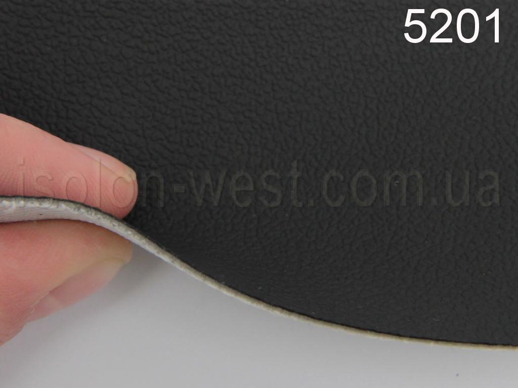 Авто кожзам, черный на тканевой основе, 1 мм.