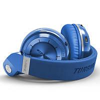 Беспроводные Bluetooth наушники Bluedio T2S с автономностью до 40 часов  (Синий)