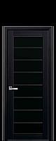 Дверное полотно Виола Венге DеWild с черным стеклом