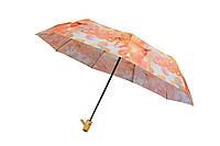 Красочный женский зонт автомат на 9 спиц с абстрактным рисунком, фото 1