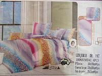 Постельное двуспальное белье East Comfort цветное