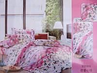 Двуспальное постельное белье  Fashion Casa розового цвета
