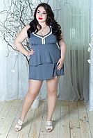 Женский купальник-платье с оборками, с 48-98 размер