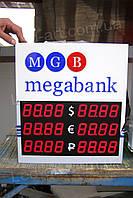 Светодиодное табло обмен валют одностороннее 500х500 мм LED-ART-500х500-1