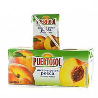 Фруктовый сок Puertosol персик 6x200 ml