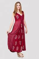 Легкий женский сарафан с принтом  длинный в пол материал хлопок