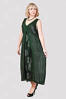 Стильный летний сарафан в пол с модного кроя от производителя