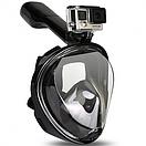 Инновационная полнолицевая маска для снорклинга   подводного плавания   Easybreath   черная, фото 8