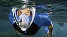 Инновационная полнолицевая маска для снорклинга | подводного плавания | Easybreath | черная, фото 9