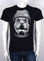 Мужская футболка с рисунком собака