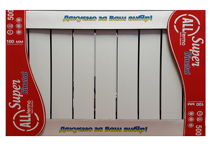 Біметалічні радіатори Alltermo Super 500x100