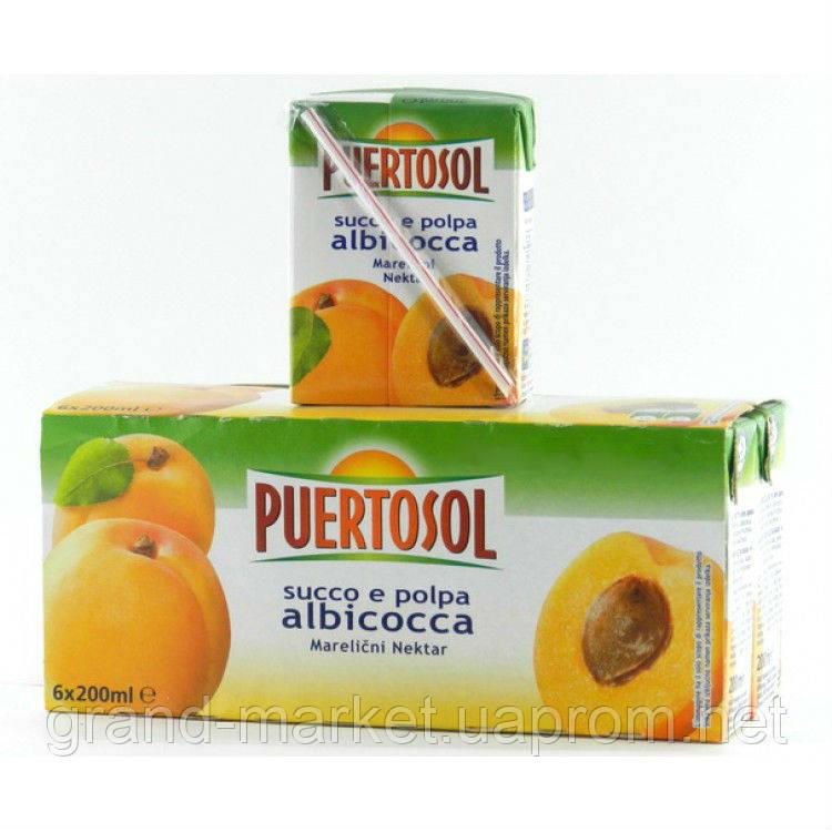 Фруктовий сік Puertosol абрикос 6x200 ml