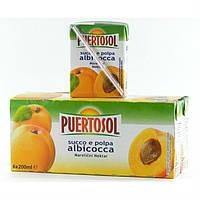 Фруктовый сок Puertosol абрикос 6x200 ml