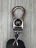 Гарна шкіряна ключниця Hyundai чорна Люкс Автомобільний брелок для ключів Стильний VIP Хюндай копія, фото 5
