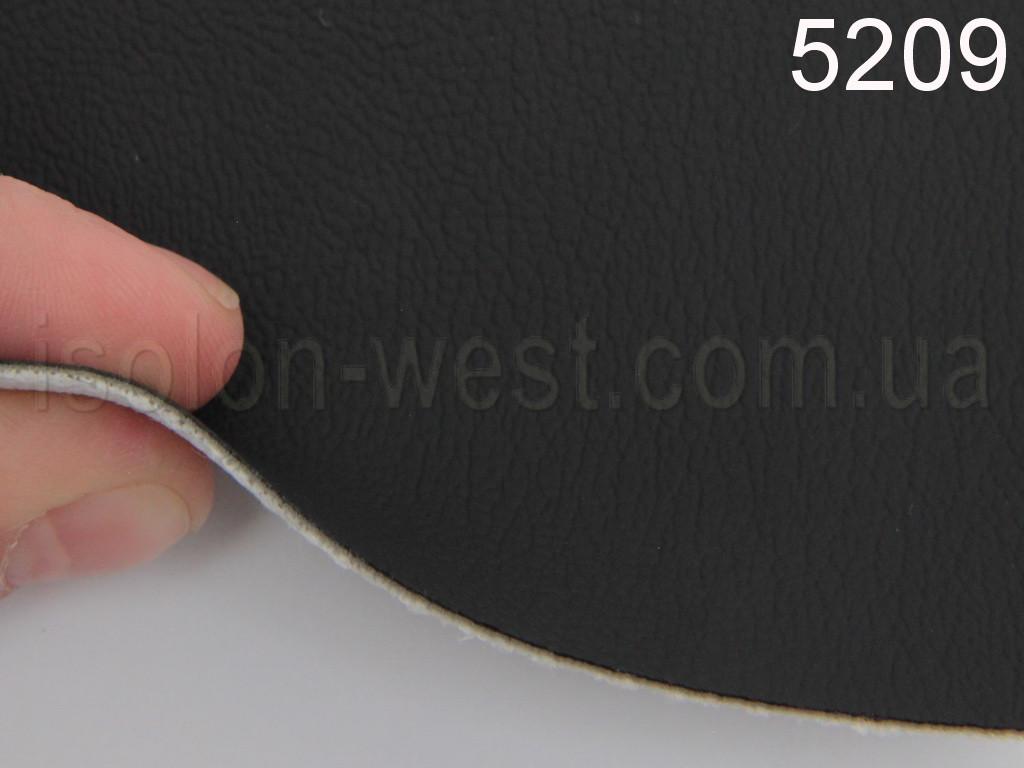 Авто кожзам, черный на тканевой основе, 1мм. 5209