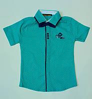 Модная рубашка-шведка  для мальчика рост 92-98 см