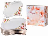 Набор 6 десертных тарелок Розовая лилия SNT 30873