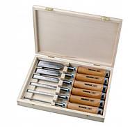 Набор стамесок с деревянной рукояткой в деревянной коробке, 6 шт BAHCO 425-083
