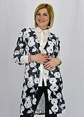 Красивый летний женский шифоновый кардиган с цветочным принтом, фото 2