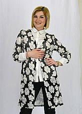 Красивый летний женский шифоновый кардиган с цветочным принтом, фото 3