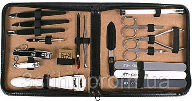 Маникюрный набор Kellermann Семейный 18 предметов 9310 Черный