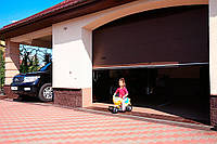 Гаражні секційні ворота ALUTECH TREND. Розмір 5875х2875 мм. Колір коричневий RAL 8014. S-гофр, фото 1