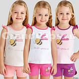Костюм (майка+шорты) для девочки ТМ Baykar р.3-6 лет (4 шт в ростовке) розовый+фиолет, фото 2