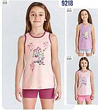 Костюм (майка+шорты) для девочки ТМ Baykar р.3-6 лет (4 шт в ростовке) персик+вишня, фото 2