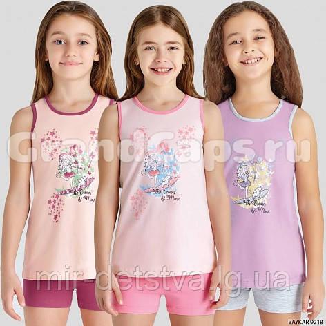 Костюм (майка+шорты) для девочки ТМ Baykar р.3-6 лет (4 шт в ростовке) персик+вишня