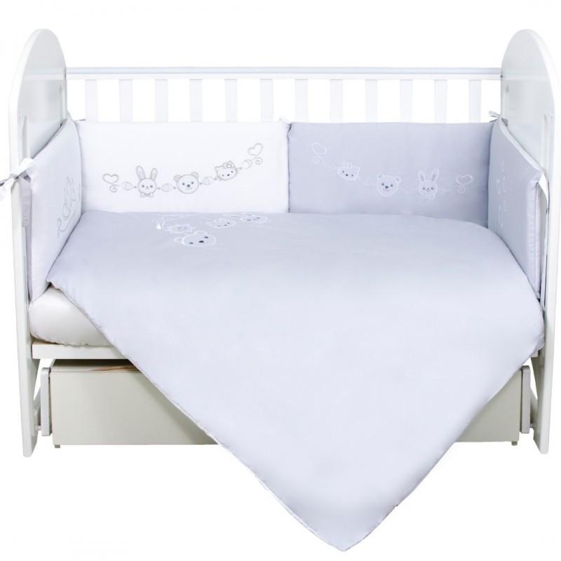 Постельный комплект для новорожденных Veres Ring toys white-gray