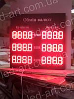 Светодиодное табло обмен валют одностороннее 700х600 мм LED-ART-700х600-1