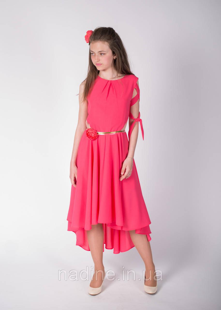Дизайнерское платье Nadine Роскошный Пион рост 140 Коралловое