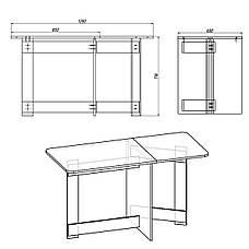 Стол раскладной слим книжка-6, фото 2