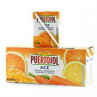 Фруктовый сок Puertosol морковно-лимонно-апельсиновый 6x200 ml