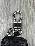 Трендова шкіряна ключниця Nissan чорна Люкс Автомобільний брелок для ключів Новинка 2019 року Ніссан копія, фото 4