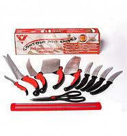 Кухонные ножи в Наборе КОНТУР ПРО (Contour Pro Knives) + МАГНИТНАЯ РЕЙКА в подарок!