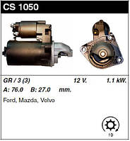 Стартер CS1050,12V-1.1kW-10t, на Ford Fiesta, Fusion, Focus C-Max, Mazda, Volvo C30 Bosch Корея CUT-CAR