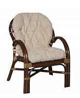 Плетеное кресло 0125 В шоколад из натурального ротанга King of Rotang