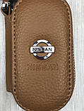 VIP шкіряна ключниця Nissan коричнева Люкс Автомобільний брелок для ключів Новинка 2019 року Ніссан копія, фото 4
