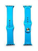 Силиконовый ремешок для Apple Watch Размер 38-40 (Синий)