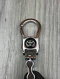 Хайповая кожаная ключница Toyota черная Люкс Автомобильный брелок для ключей Молодежный Тойота копия, фото 5